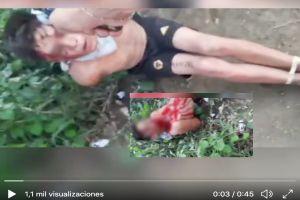 VIDEO: Ejecutan a balazos en la cara a dos jóvenes por supuestamente ser de un nuevo cártel