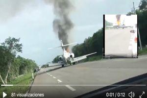 VIDEO: Helicóptero militar derriba supuesta narcoaeronave en México