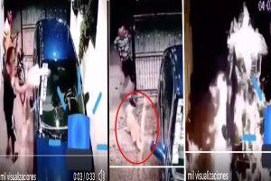VIDEO: Narcos queman auto de familia por denunciarlos; perrito estaba en garage cuando lo hicieron