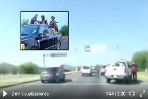 VIDEO: Narcos y policías de tránsito extorsionan a ciudadanos que cruzan frontera, les piden $1000 dólares