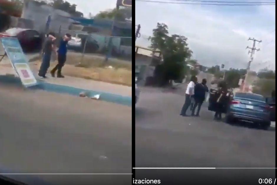 VIDEO: Sicarios del Cártel de Sinaloa imponen su ley, así revisan a gente a plena vista de autoridades