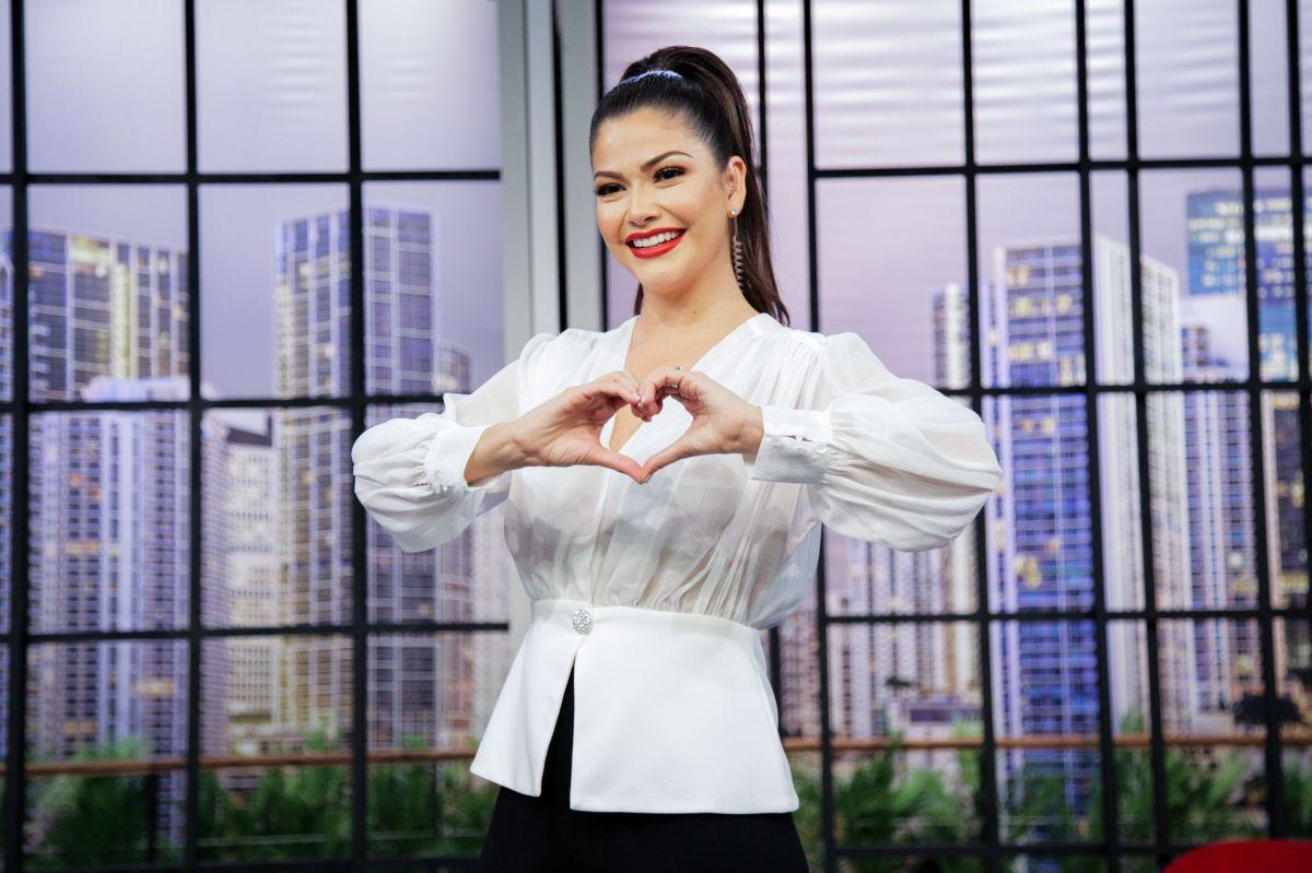 """Ana Patricia Gámez, conductora de """"Enamorándonos"""". Foto: Univision"""