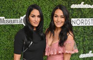 Las gemelas Nikki y Brie Bella posan desnudas a un mes de convertirse en mamás