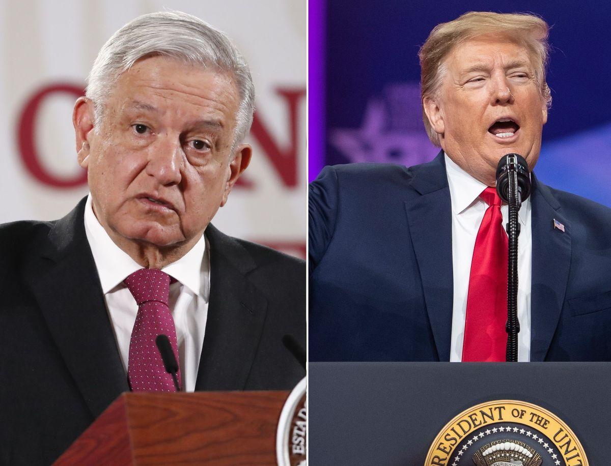Los presidentes Andrés Manuel López Obrador y Donald Trump.