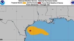 Hanna se convierte en el primer huracán de la temporada y se desplaza hacia la costa de Texas