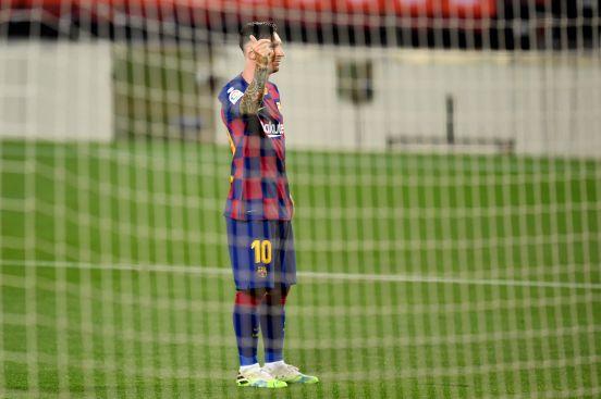 Leo Messi festejó de forma peculiar.