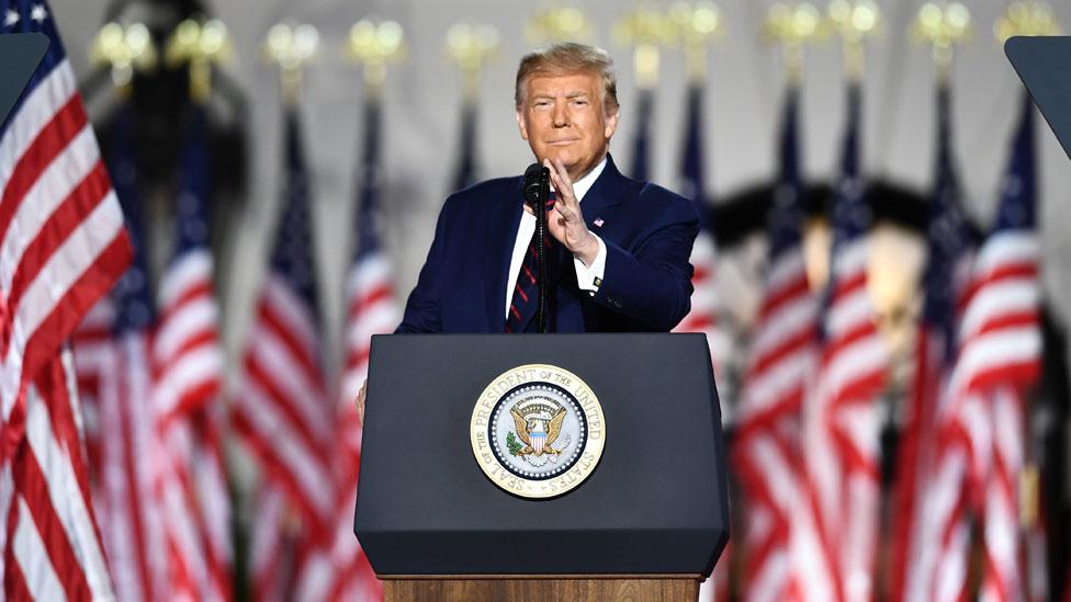 Trump aceptó formalmente la nominación del Partido Republicano a la presidencia.