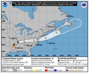 El huracán Laura enfila hacia Arkansas ya como tormenta tropical