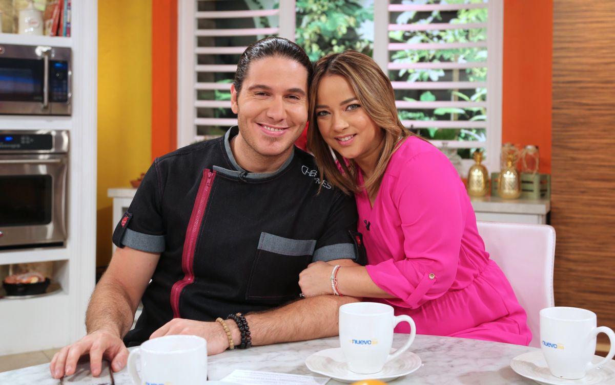 Adamari López junto a su gran amigo, el Chef James en Un Nuevo Día.