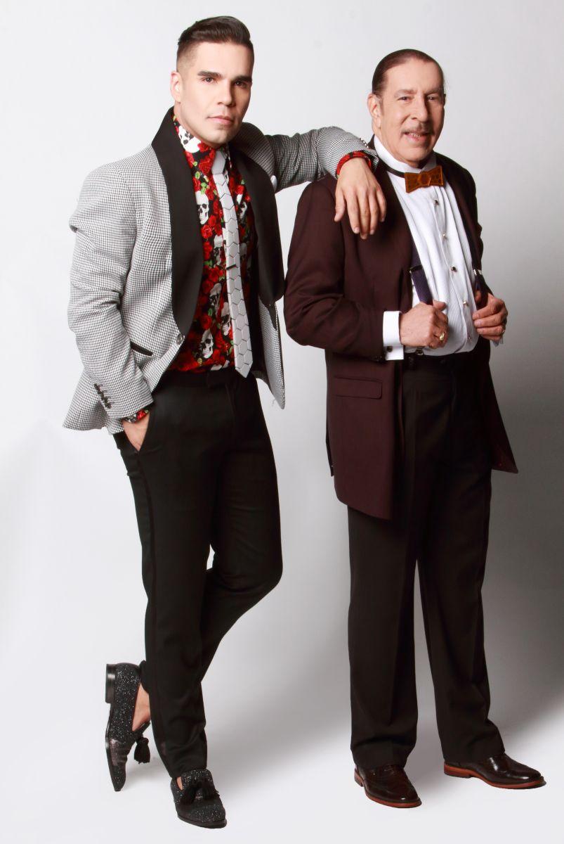 Emir Pabón junto a su padre, Humberto Pabón, quien fundó la agrupación en 1995. Foto: Cortesía