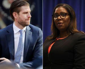 Citan a Eric Trump ante un tribunal de Nueva York en un caso de fraude