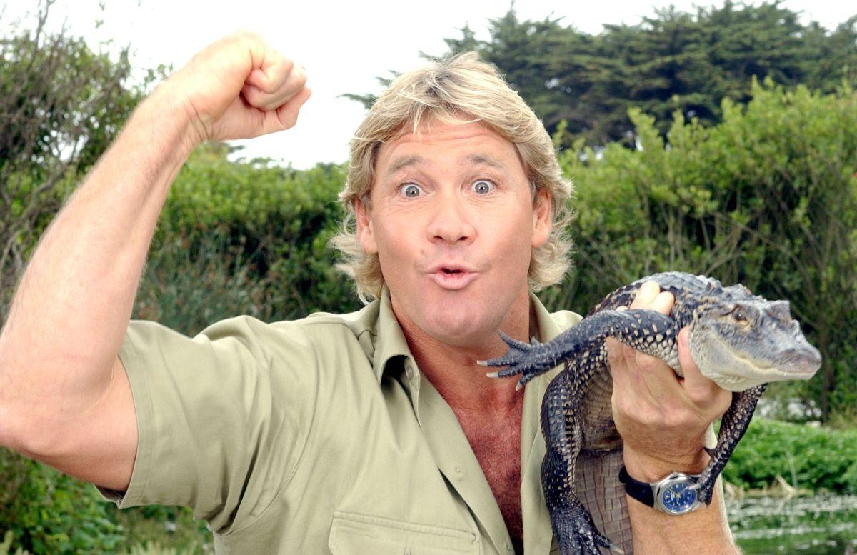 """Steve Irwin, """"El cazador de cocodrilos""""."""