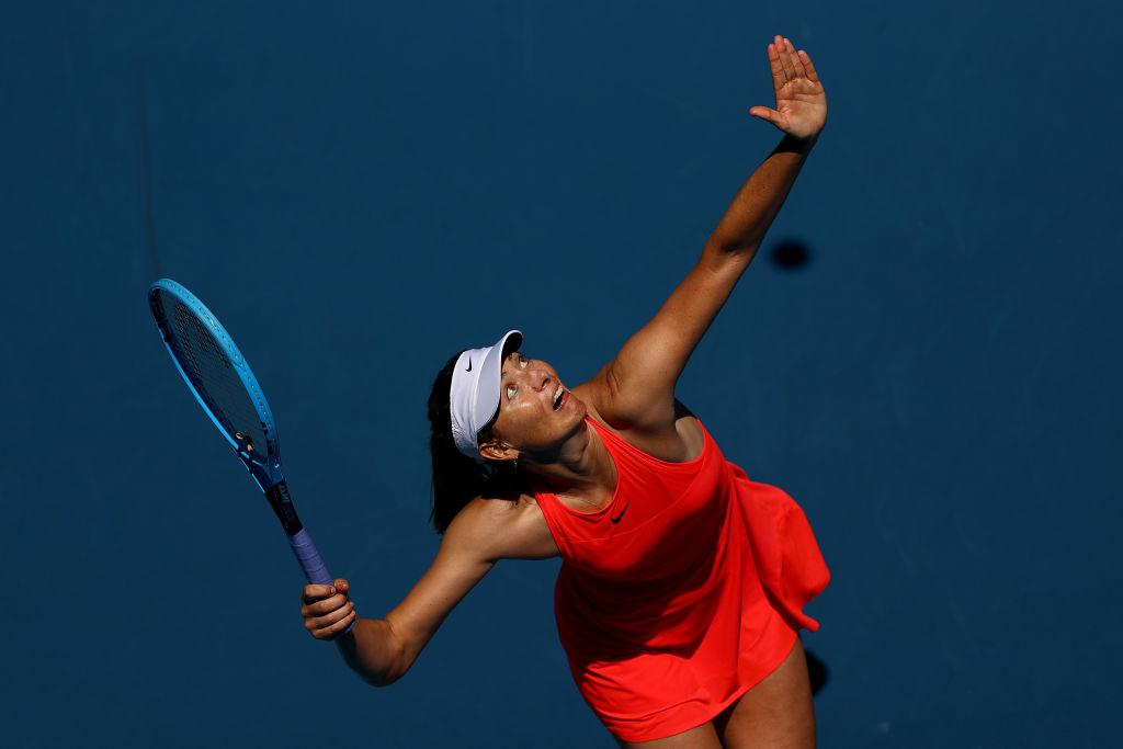 Maria Sharapova en su último torneo como profesional.