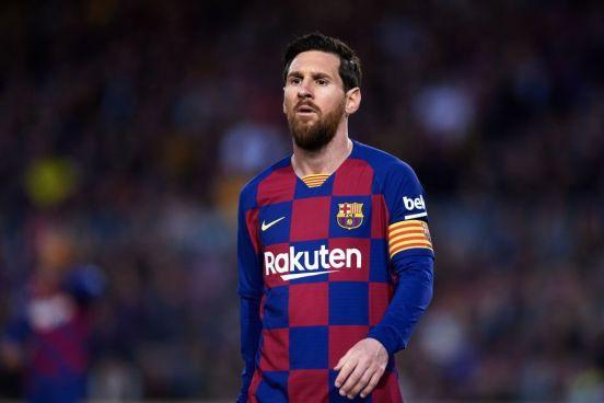 Lionel Messi en un partido con el Barcelona.