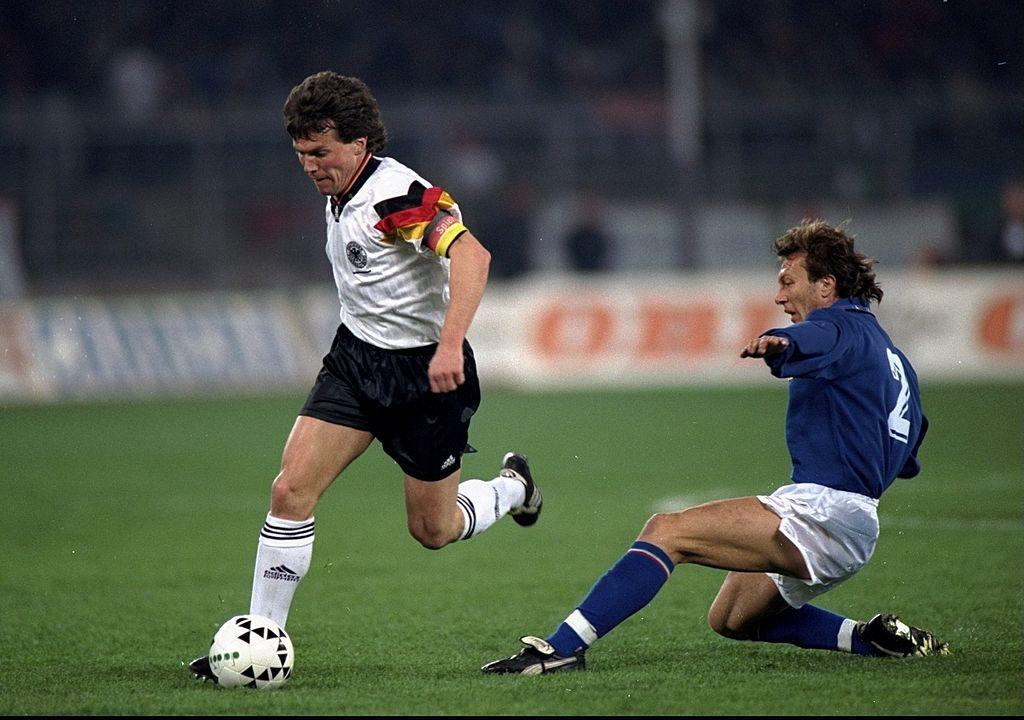 Lothar Matthaus en un partido con Alemania.