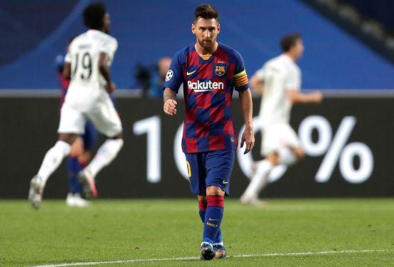 Lionel Messi durante la derrota de 2-8 ante el Bayern Munich.