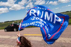 VIDEO: simpatizante hispano de Biden es atacado por seguidor de Trump el doble de grande