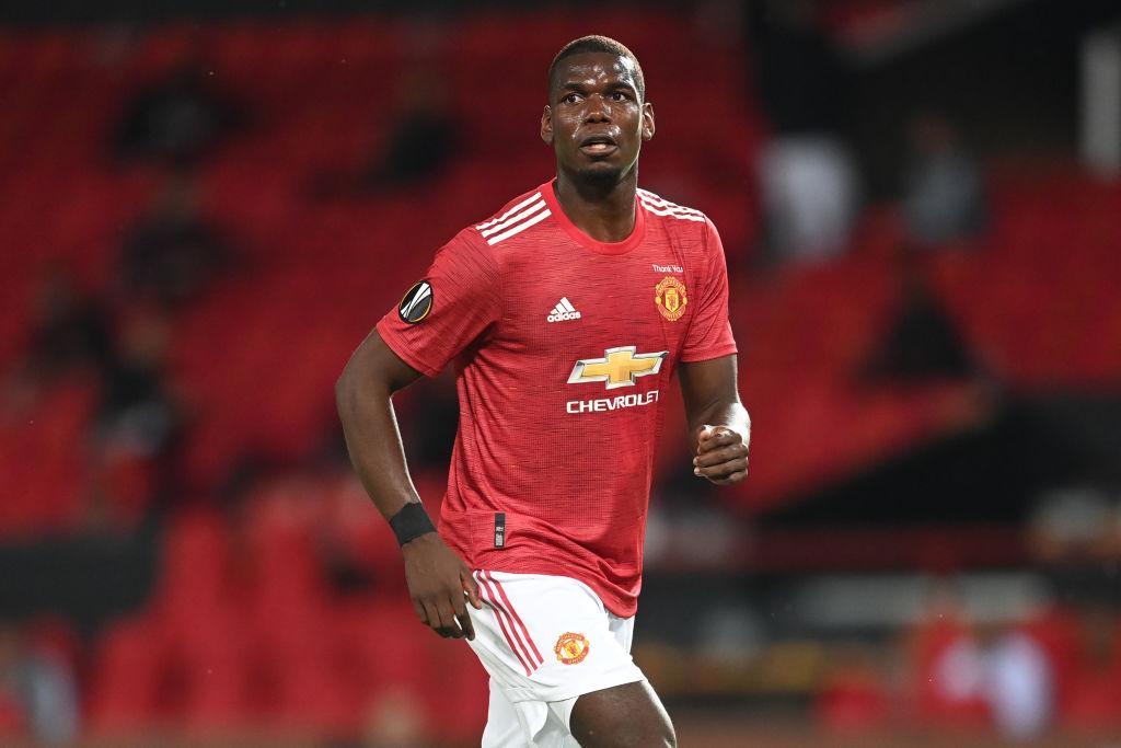 Paul Pogba en un partido del Manchester United.