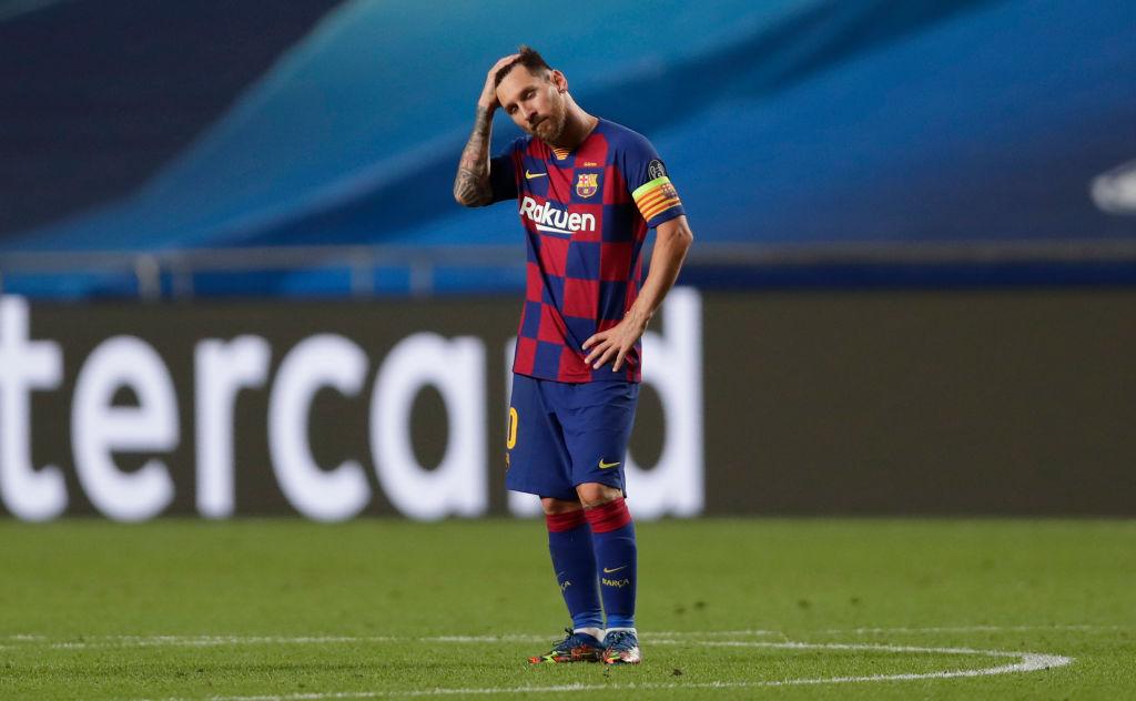 Lionel Messi poco pudo hacer en la derrota histórica del Barcelona.