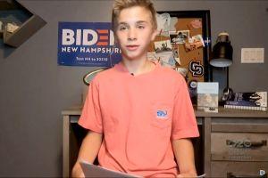 Un adolescente tartamudo emocionó a muchos al cierre de la Convención Demócrata