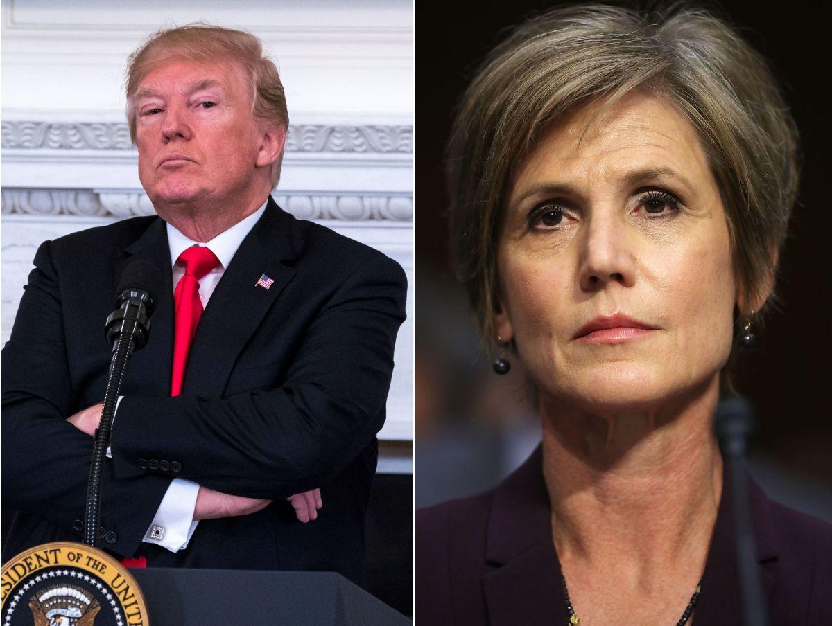 El presidente Donald Trump y la exfiscal general Sally Yates.