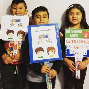 Familia latina recauda fondos para los estudiantes más necesitados del Este de LA