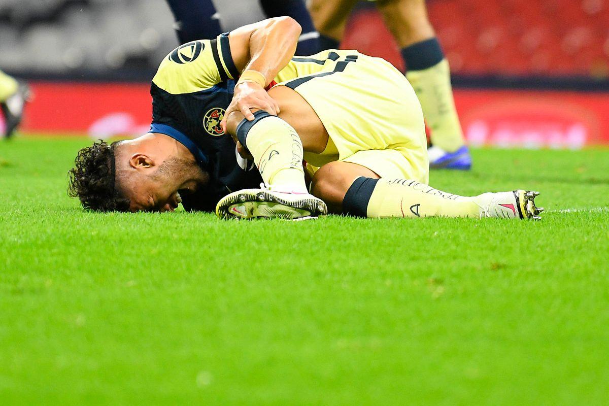 Bruno Valdéz fue trasladado al hospital para conocer la gravedad de su lesión.