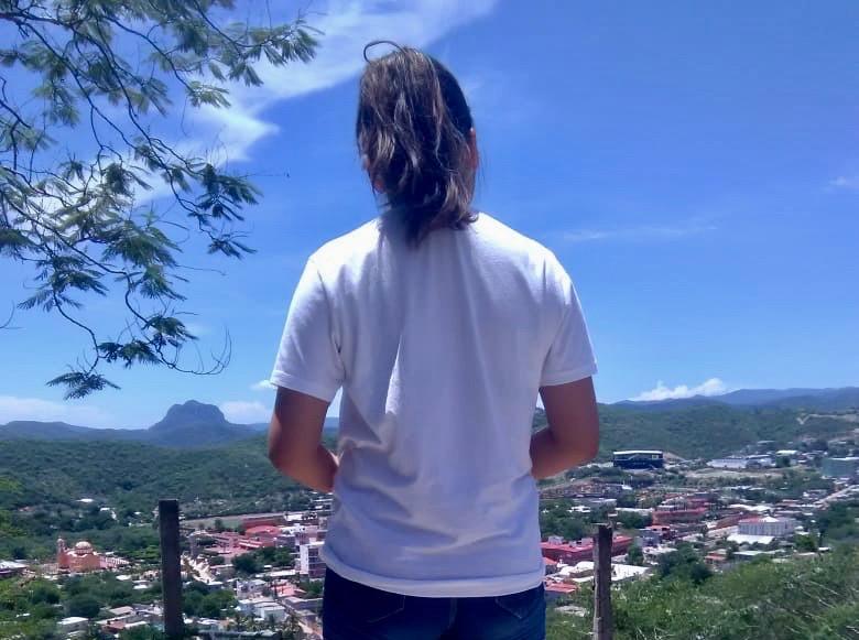 Lluvia Esperanza, cuando vivía en Guerrero