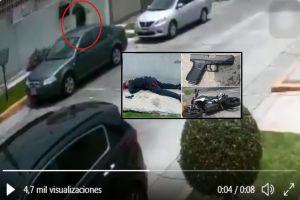VIDEO: Asaltante se suicida tras ser acorralado por policías