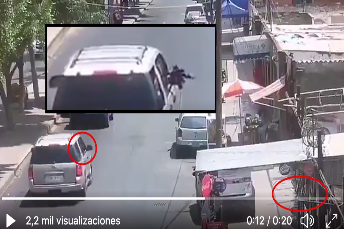 VIDEO: Con fusil, hombres armados disparan a hombres que comían en puesto de birria