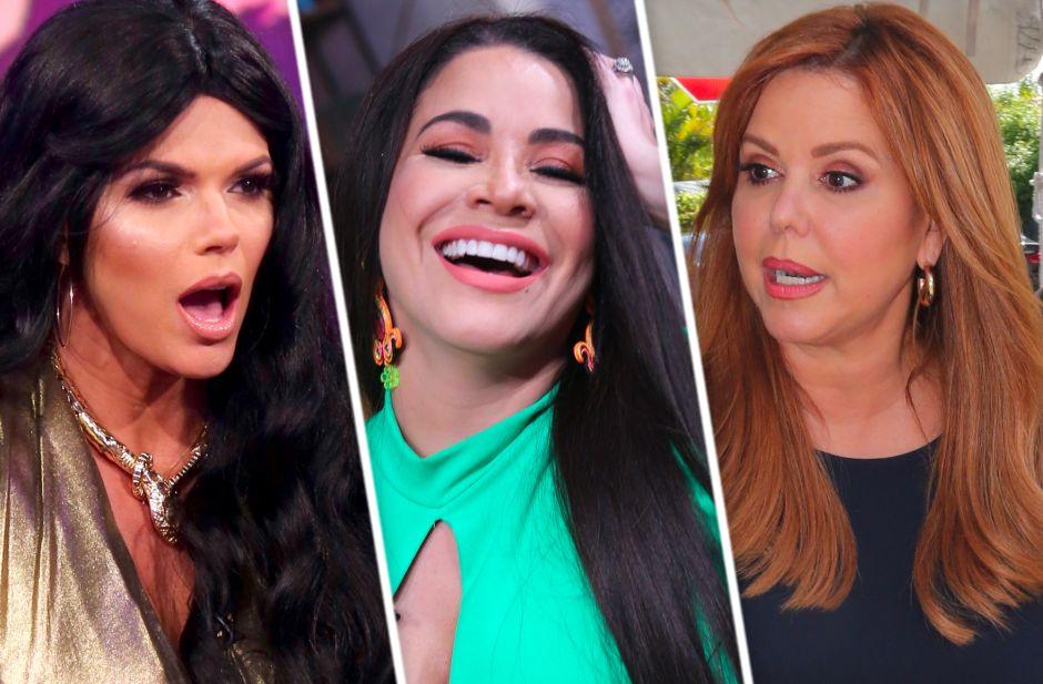 Carolina Sandoval se ríe tras confirmarse las salidas de María Celeste Arrarás y Rashel Díaz de Telemundo