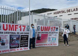 """""""No somos criminales"""", dice médico detenido en Chiapas, colegas exigen su liberación"""