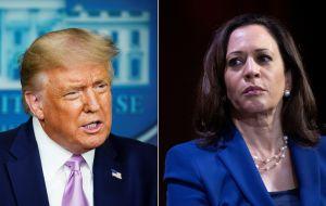 Trump expresa dudas sobre si Kamala Harris puede ser VP, porque es hija de inmigrantes