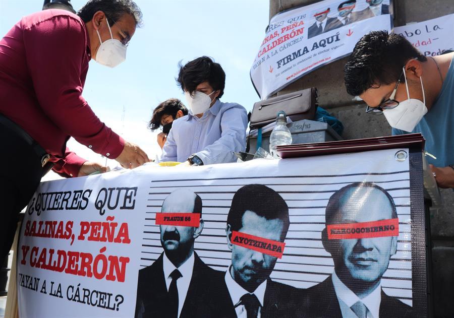 Partido de AMLO va por 2 millones de firmas para llevar a juicio político a expresidentes