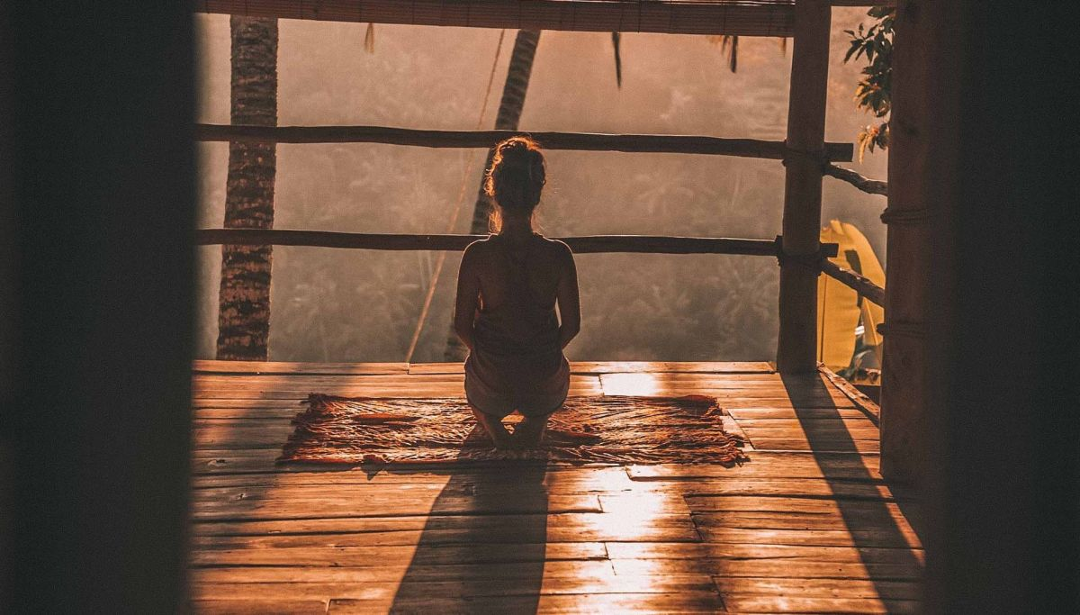 La meditación favorece el estado del alma.