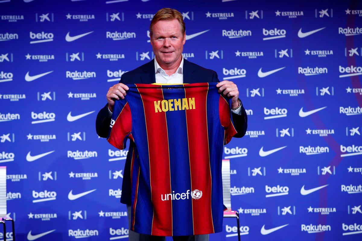 Ronald Koeman, flamante técnico del FC Barcelona.