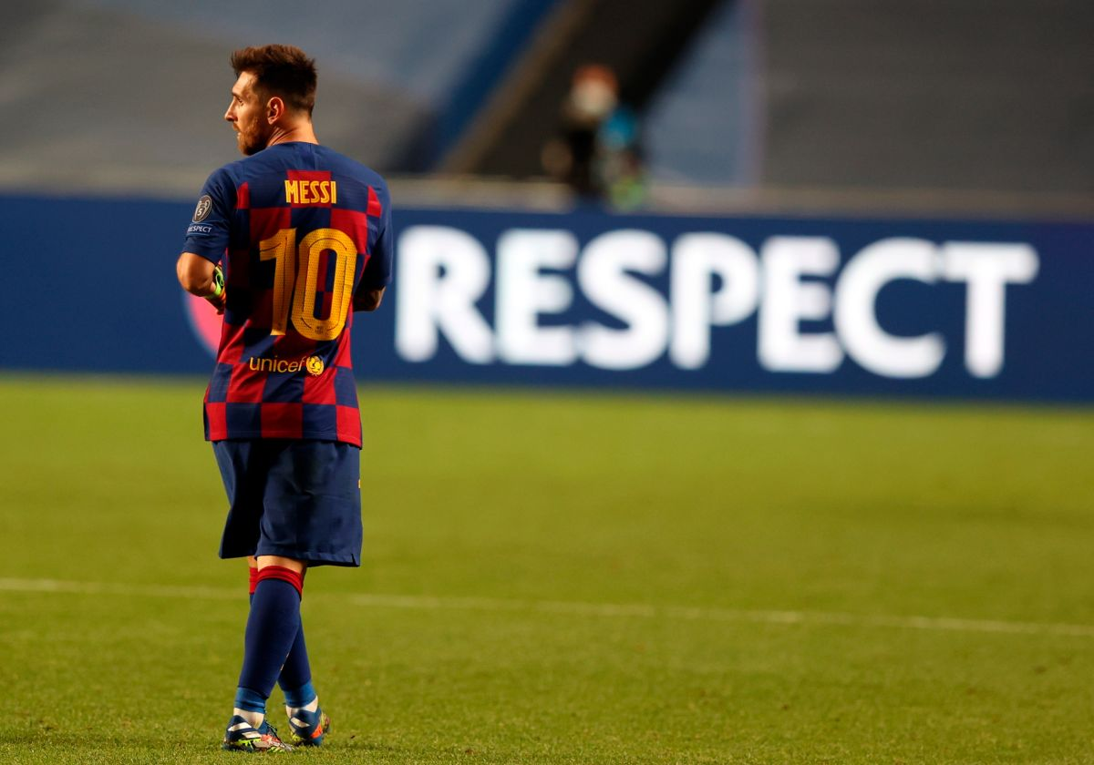 Leo Messi podría abandonar al Barcelona.
