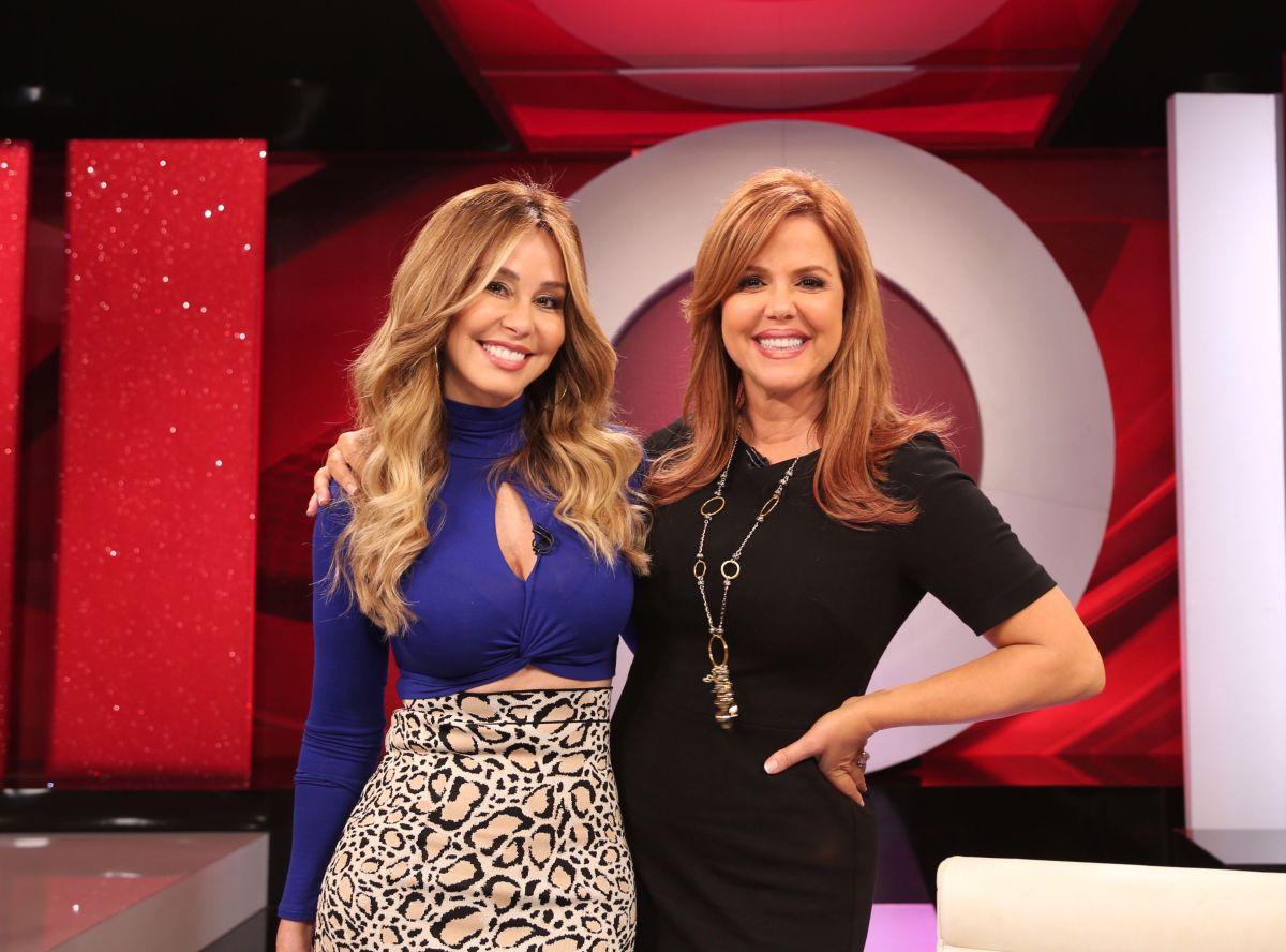 Myrka Dellanos y María Celeste Arrarás.