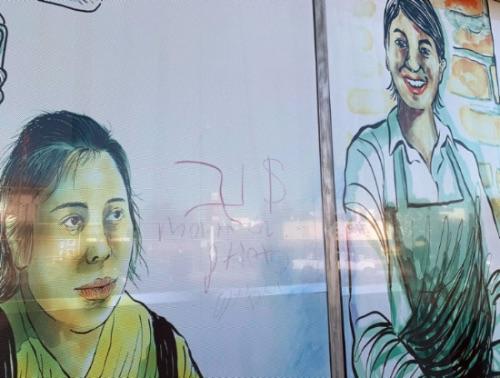 Vandalizan Centro para Jornaleros de Pasadena con grafiti racista