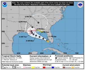 Tormenta Sally se intensifica en el Golfo y avanza hacia Estados Unidos