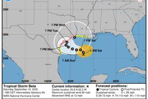 Tormenta tropical Beta: Anuncian evacuaciones voluntarias en Galveston y zonas de Houston