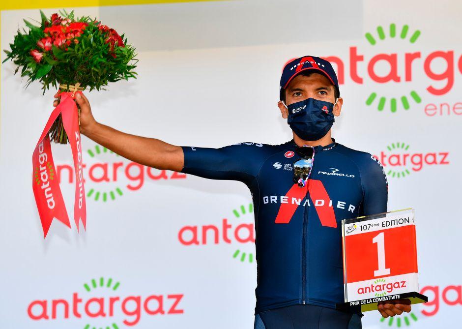 Ecuatoriano Richard Carapaz gana el premio a la Combatividad en el Tour de Francia