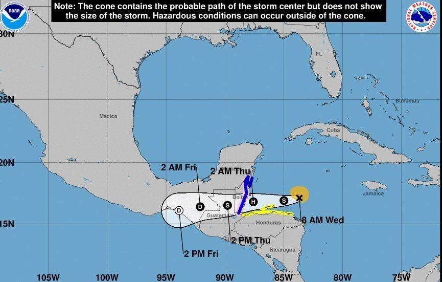 En redes aseguran haber visto al demonio en el ojo de la tormenta tropical Nana