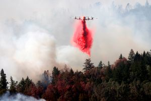 El cielo de Santa Rosa, California está cubierto de cenizas del incendio Glass Fire