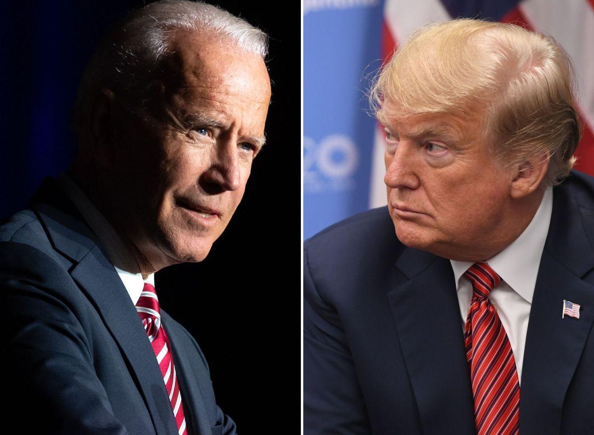El demócrata Joe Biden y el republicano Donald Trump.