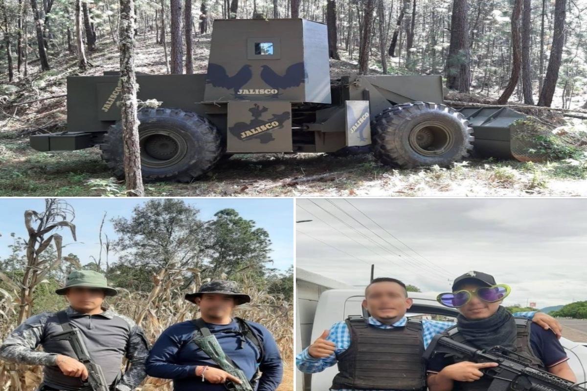 FOTOS: Autodefensas exponen troca monstruo del Mencho y a integrantes del CJNG