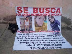 FOTOS: Familia Michoacana corta en pedazos a jovencitos por supuestamente vender drogas
