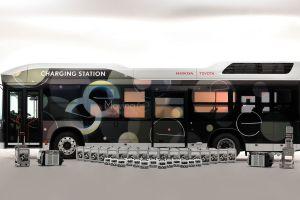 Este autobús de hidrógeno de Toyota es capaz de suministrar electricidad a casas y autos