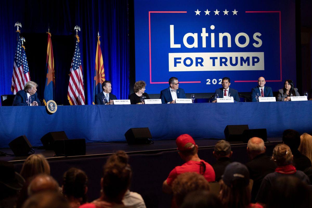 El presidente Trump ha cortejado el voto latino.