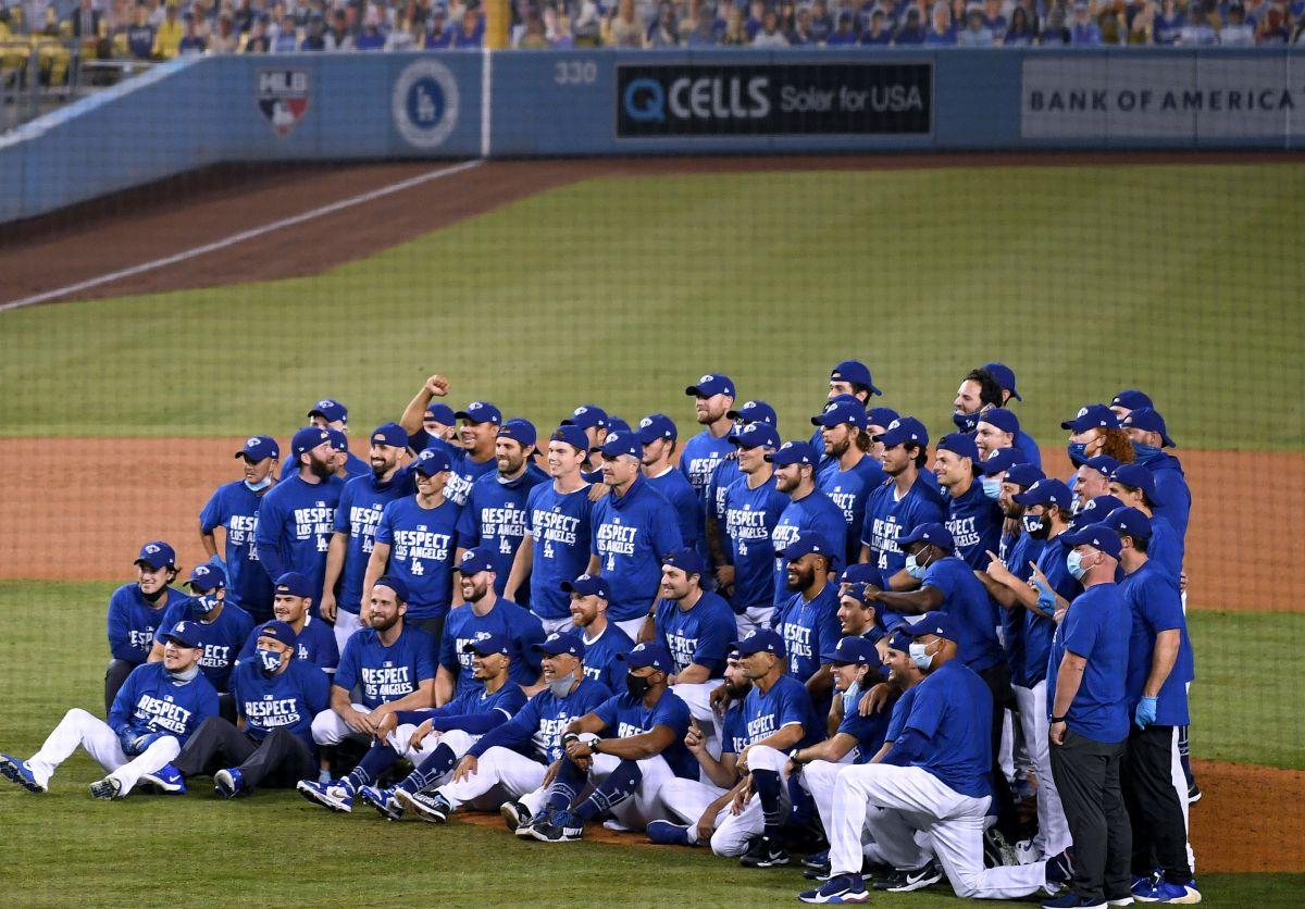 Los Dodgers se tomaron una nueva foto de campeones del Oeste.